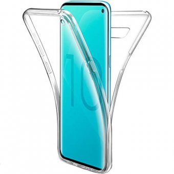 Husa Gel TPU 360 de grade- Galaxy S10-Transparent