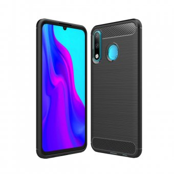 Husa Tpu Carbon Case Flexible-Huawei Y6 P-Black