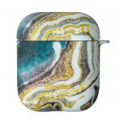 Cutie Protectie Casti AirPods Kingxbar -Gold Marble