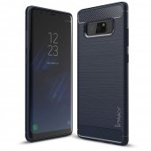 Husa iPaky Slim Carbon Fibre Brushed- Galaxy Note 8- Albastru