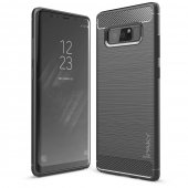 Husa iPaky Slim Carbon Fibre Brushed- Galaxy Note 8- Gri