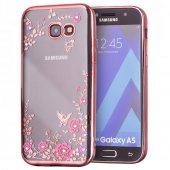 Husa Plating TPU Case Flower- Galaxy A5 2017-Roz