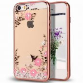 Husa Plating TPU Case Flower- Galaxy J5 2017- Roz