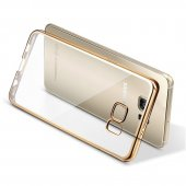 Husa Silicon Samsung Galaxy S6 Edge-Margine Gold